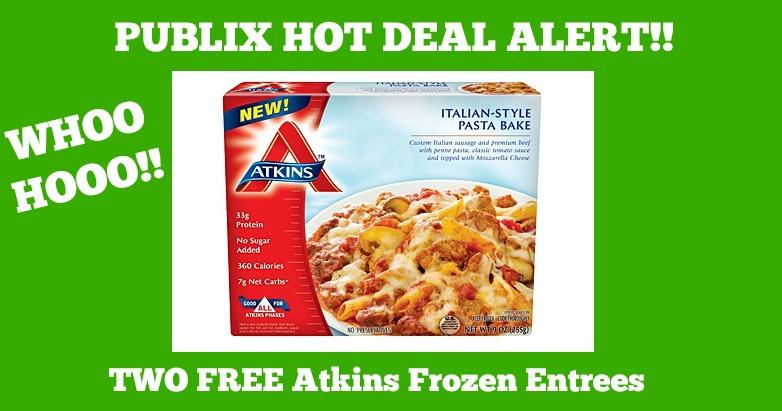 Atkins Frozen Dinners  Publix Hot Deal Alert FREE Atkins Frozen Entrees Until 3 9