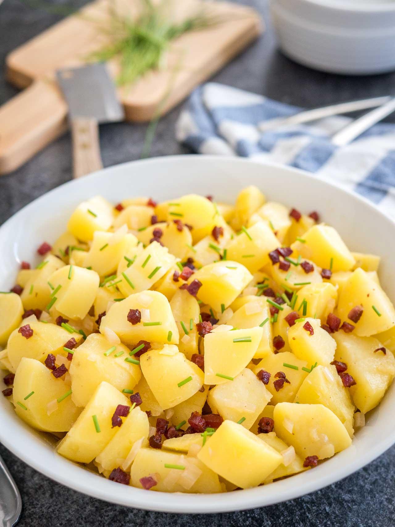 Authentic German Potato Salad Recipe  authentic cold german potato salad recipe