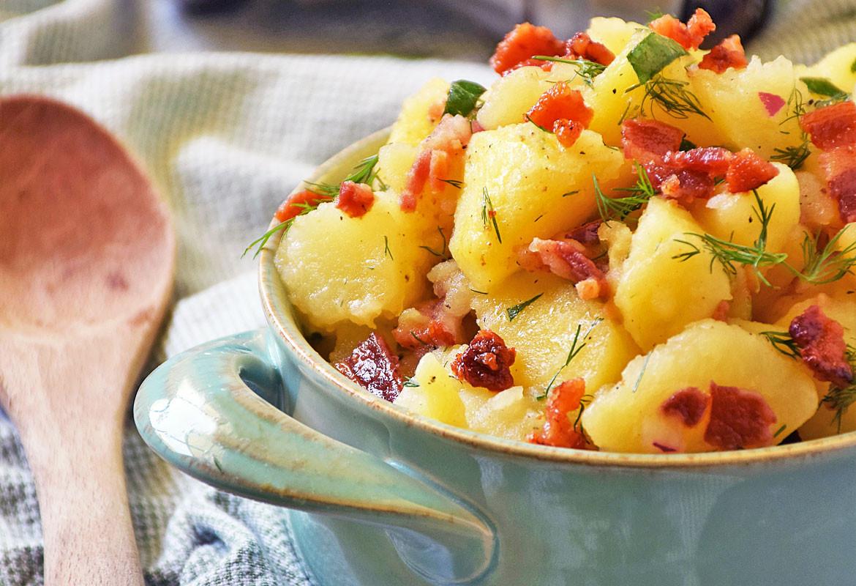 Authentic German Potato Salad Recipe  Authentic German Potato Salad SundaySupper