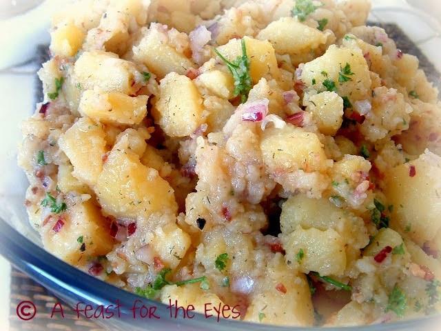 Authentic German Potato Salad Recipe  A Feast for the Eyes Authentic German Potato Salad
