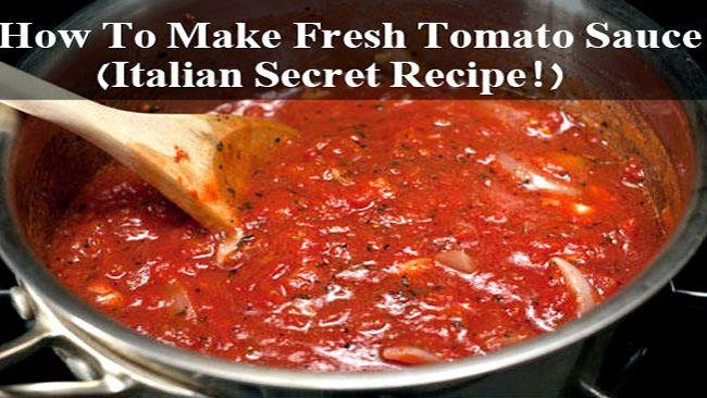 Authentic Italian Pizza Sauce Recipe  Authentic italian spaghetti sauce recipe fresh tomatoes