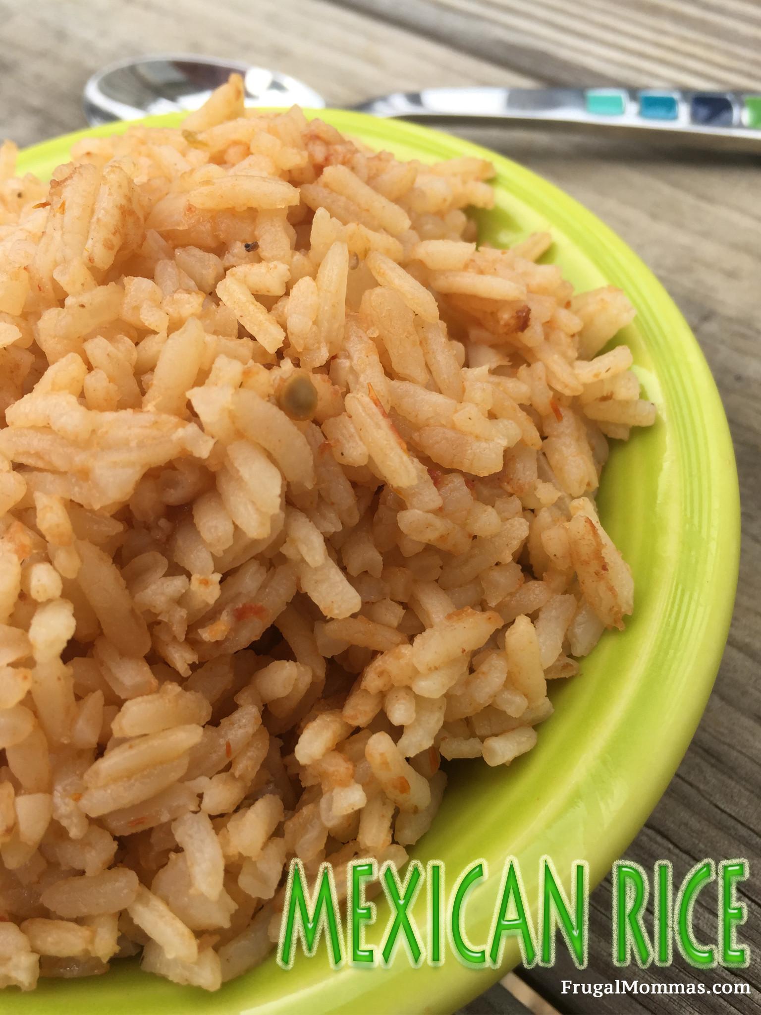 Authentic Mexican Rice  Authentic Mexican Rice Recipe Frugal Mommas