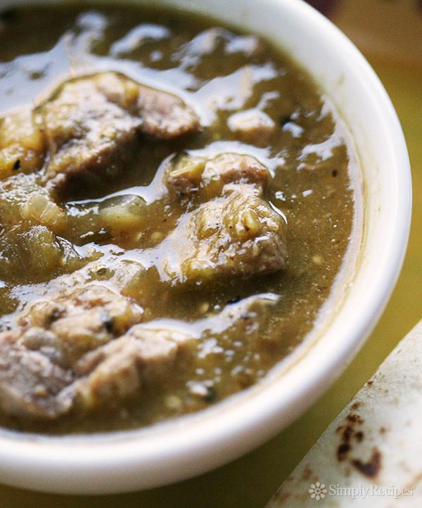 Authentic Pork Green Chili Recipe  Chile Verde Recipe