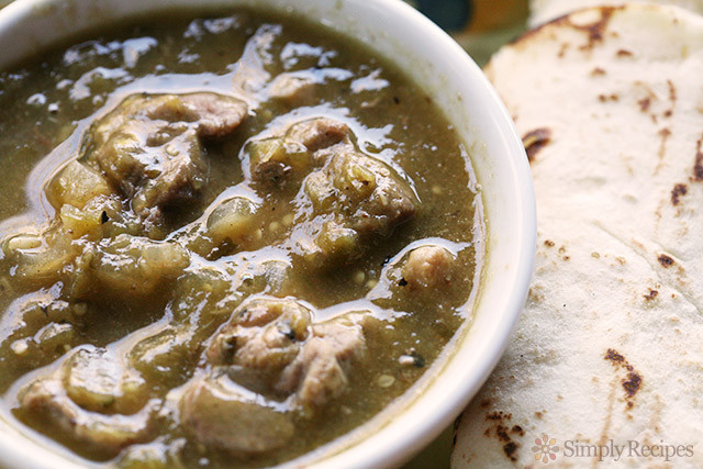 Authentic Pork Green Chili Recipe  Chile Verde Recipe