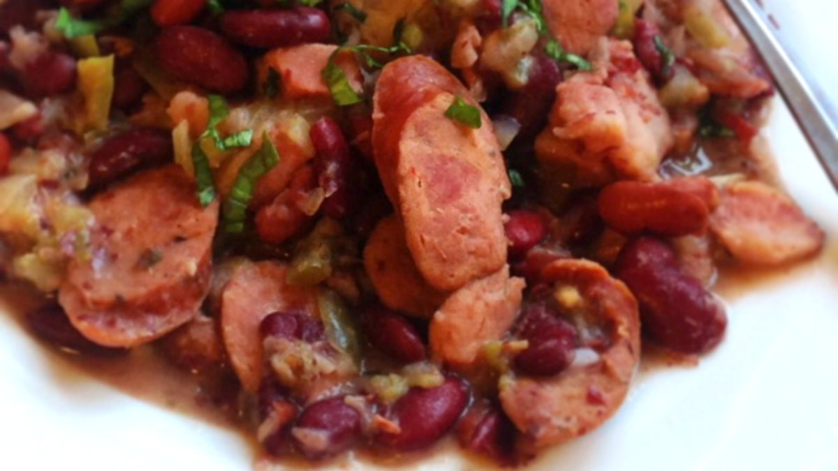 Authentic Red Beans And Rice  Louisiana Red Beans and Rice Recipe What s Cooking America
