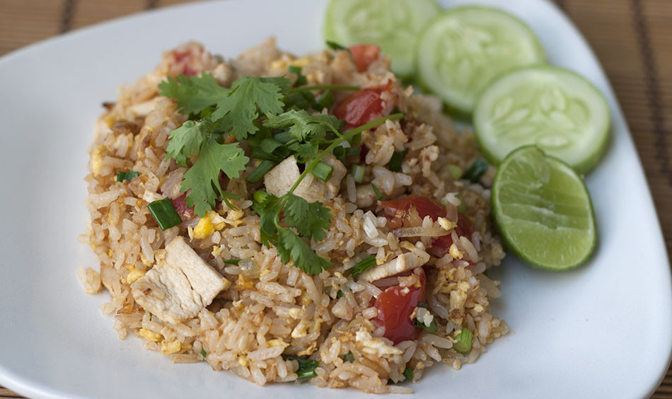 Authentic Thai Recipes  Thai Fried Rice with Chicken Real Thai Recipes
