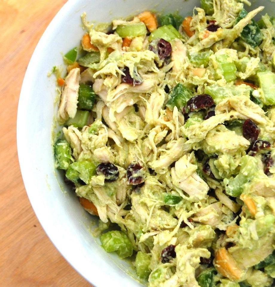 Avacado Chicken Salad  Cheryl s Wicked Spoon Cooking Avocado Cashew Chicken Salad