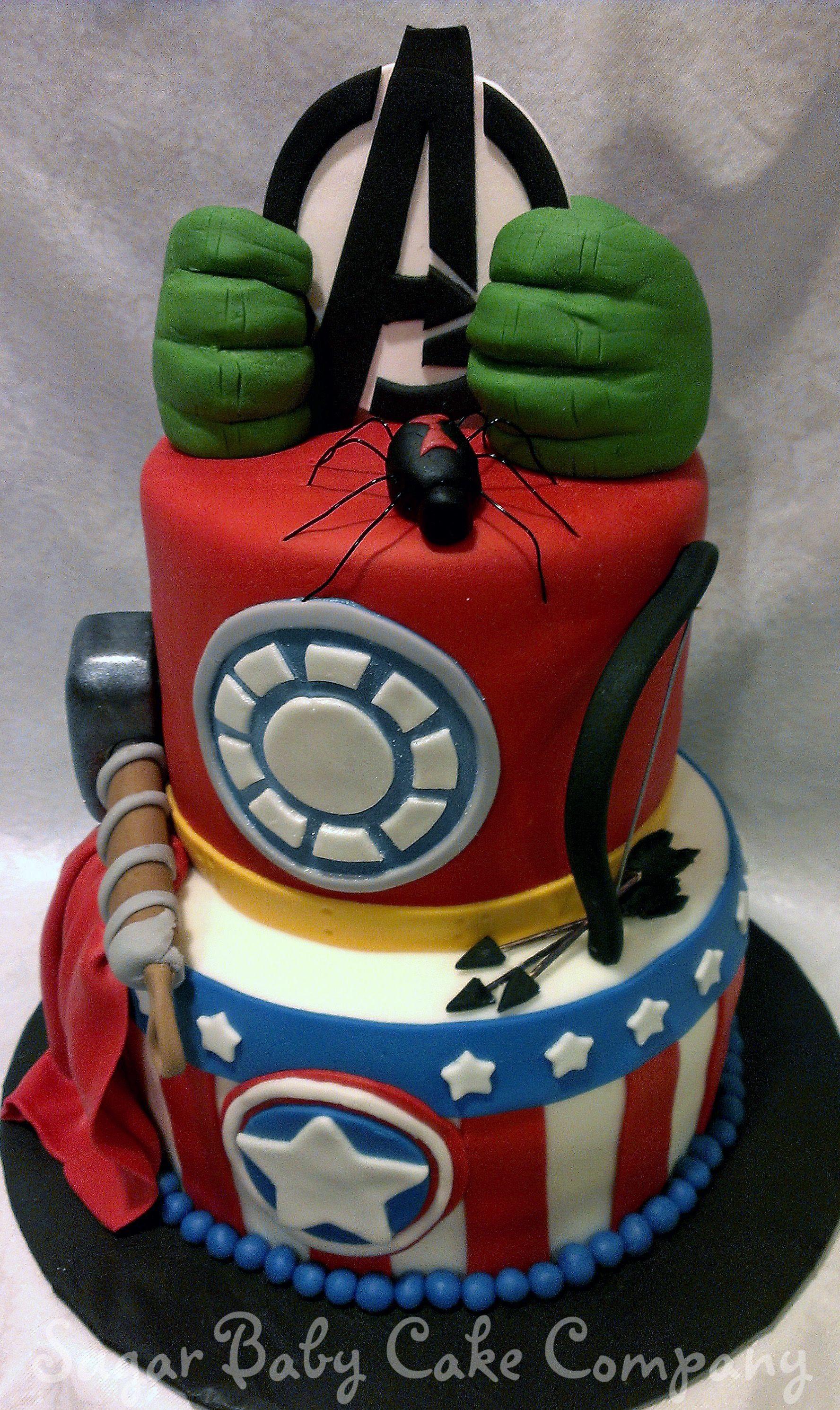 Avengers Birthday Cake  Avengers Birthday Cakes on Pinterest
