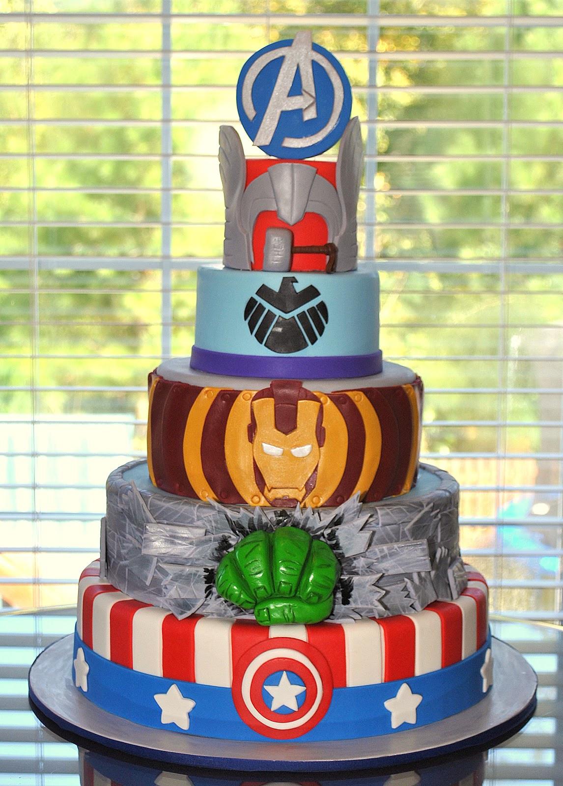 Avengers Birthday Cake  Hope s Sweet Cakes Avengers Cake and Party
