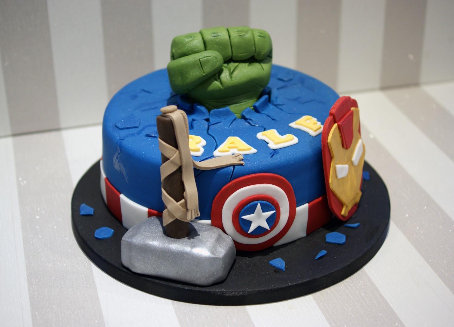 Avengers Birthday Cake  Avengers themed Birthday Cake Bakealous