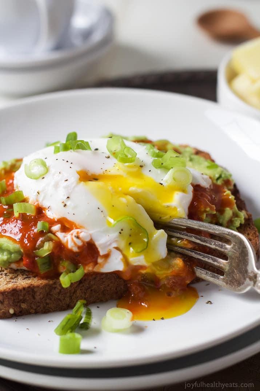 Avocado Breakfast Recipes  Ricotta Avocado Toast with Poached Egg