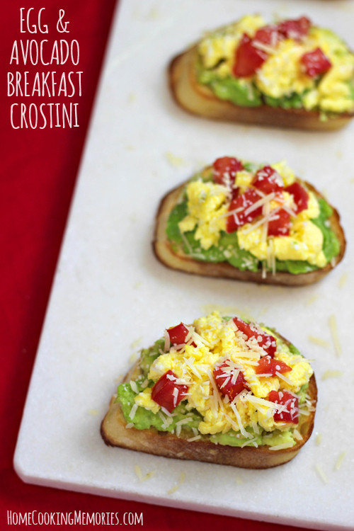 Avocado Breakfast Recipes  Egg and Avocado Breakfast Crostini Recipe Home Cooking