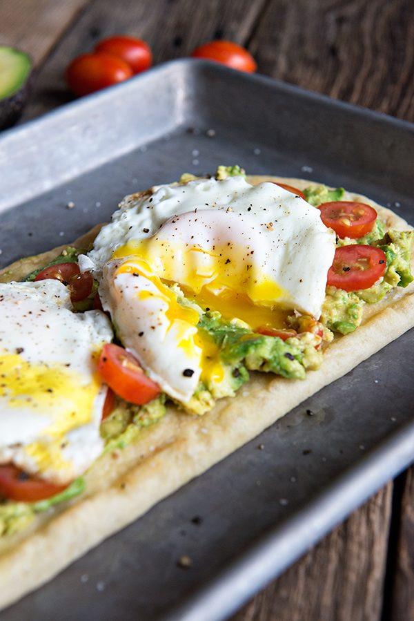 Avocado Breakfast Recipes  Egg and California Avocado Breakfast Flatbread Recipe