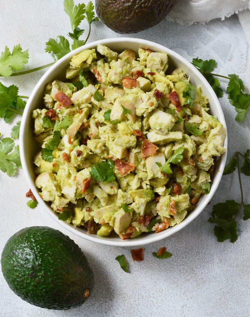 Avocado Chicken Salad  Bacon Avocado Chicken Salad Whole30 Recipe WonkyWonderful
