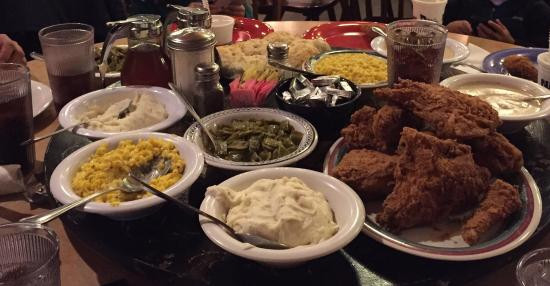 Babes Fried Chicken  Fried chicken mashed potatoes gravy corn green beans