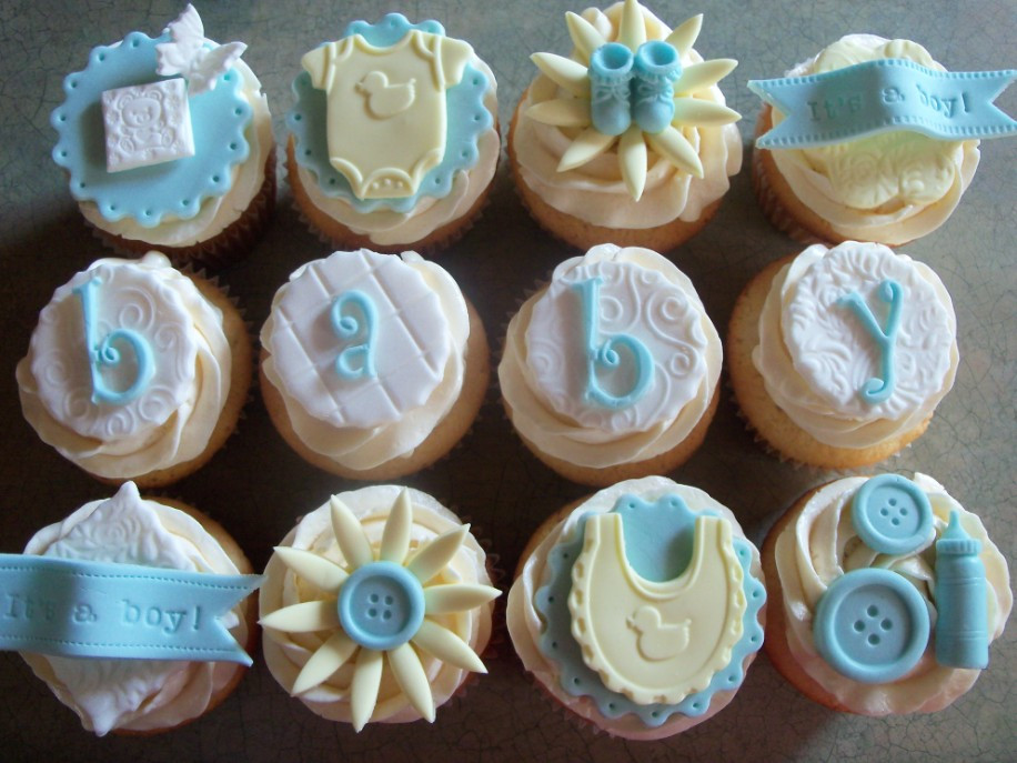 Baby Shower Cupcakes For Boys  Baby Boy Shower Cupcakes How Sweet Is That Cupcake Lovers