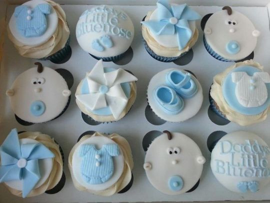 Baby Shower Cupcakes For Boys  Baby boy Cupcakes Cake by Helen CakesDecor