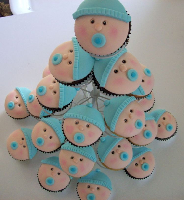 Baby Shower Cupcakes For Boys  Baby shower boys cupcakes