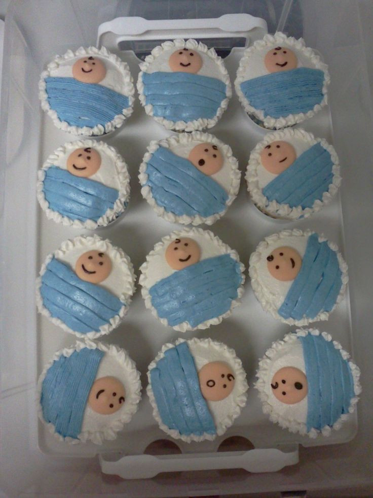 Baby Shower Cupcakes For Boys  1000 images about baby shower cakes on Pinterest