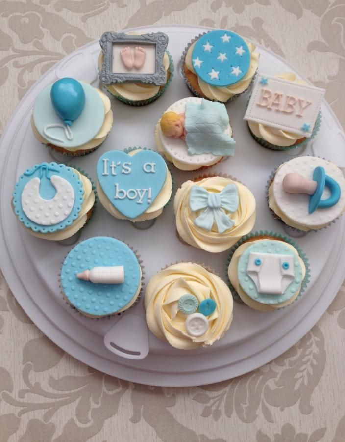 Baby Shower Cupcakes For Boys  Baby shower cupcakes