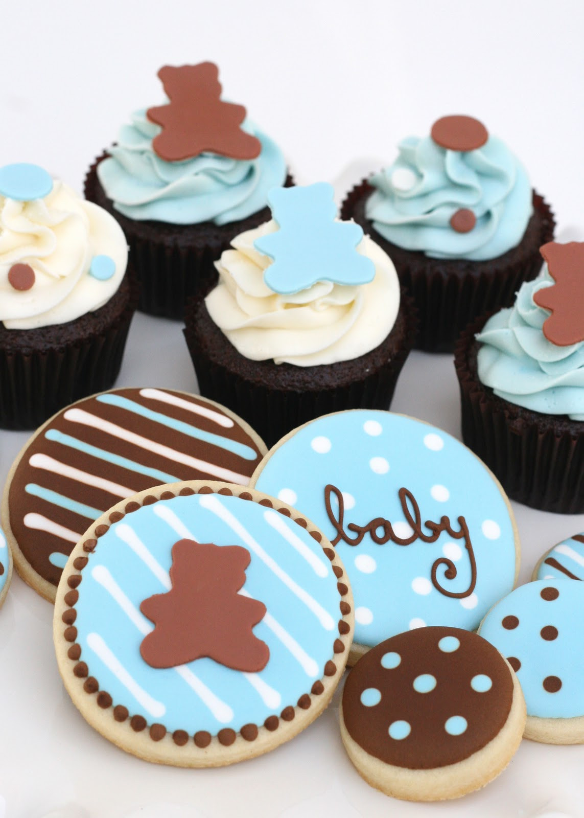 Baby Shower Cupcakes For Boys  Baby Shower Treats – Glorious Treats
