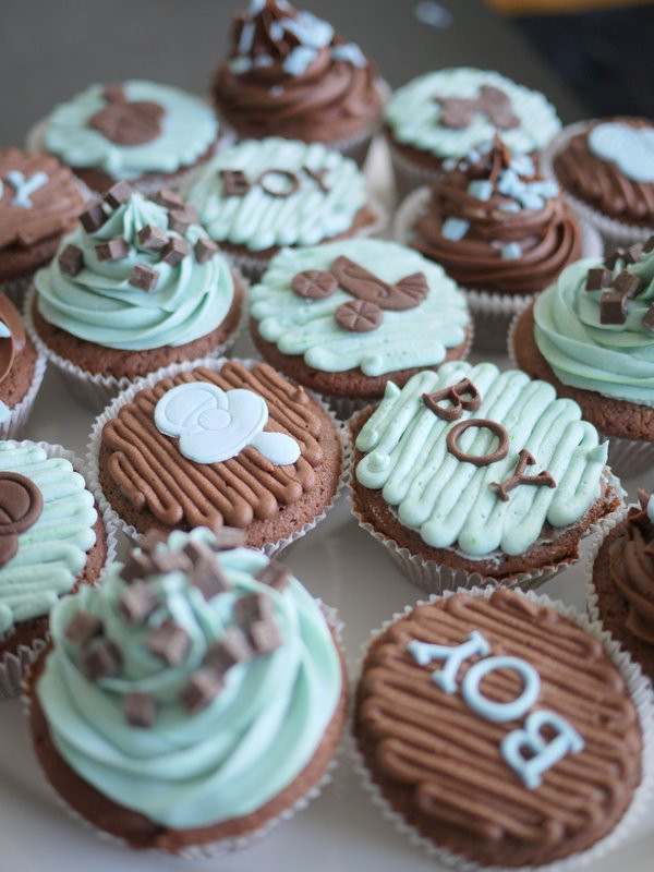 Baby Shower Cupcakes For Boys  Living Room Decorating Ideas Baby Boy Shower Cupcakes