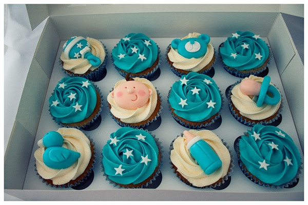 Baby Shower Cupcakes For Boys  Baby Shower Cupcakes Boy on Behance