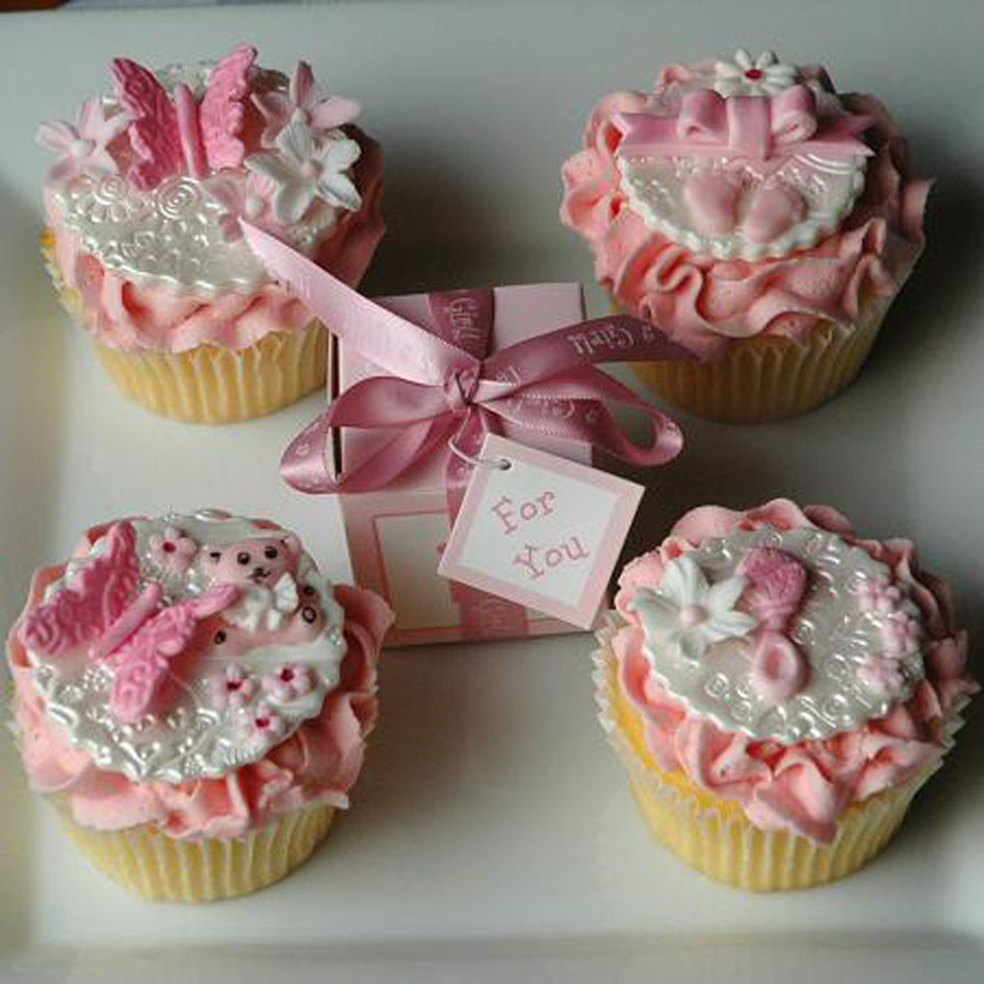 Baby Shower Cupcakes For Girls  baby shower cakes for girls Baby Shower Decoration Ideas