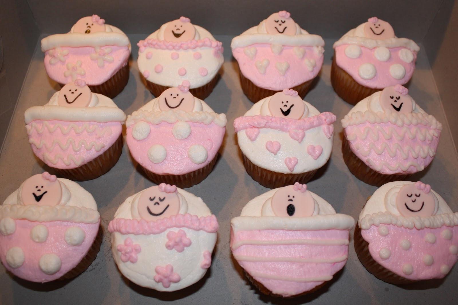 Baby Shower Cupcakes For Girls  Kake Baby Girl Shower Cupcakes
