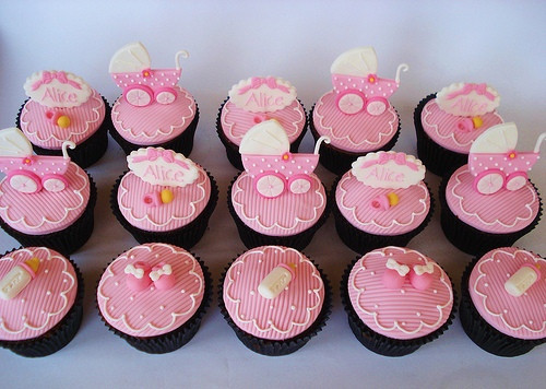 Baby Shower Cupcakes For Girls  Cupcakes Baby shower girl Imagui