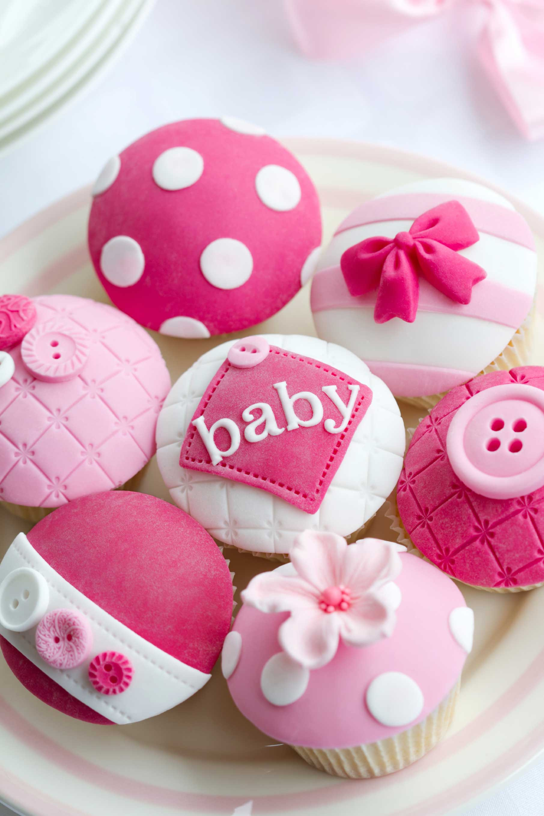 Baby Shower Cupcakes  Baby Shower Cakes Gallery Pink Frosting Parties Team