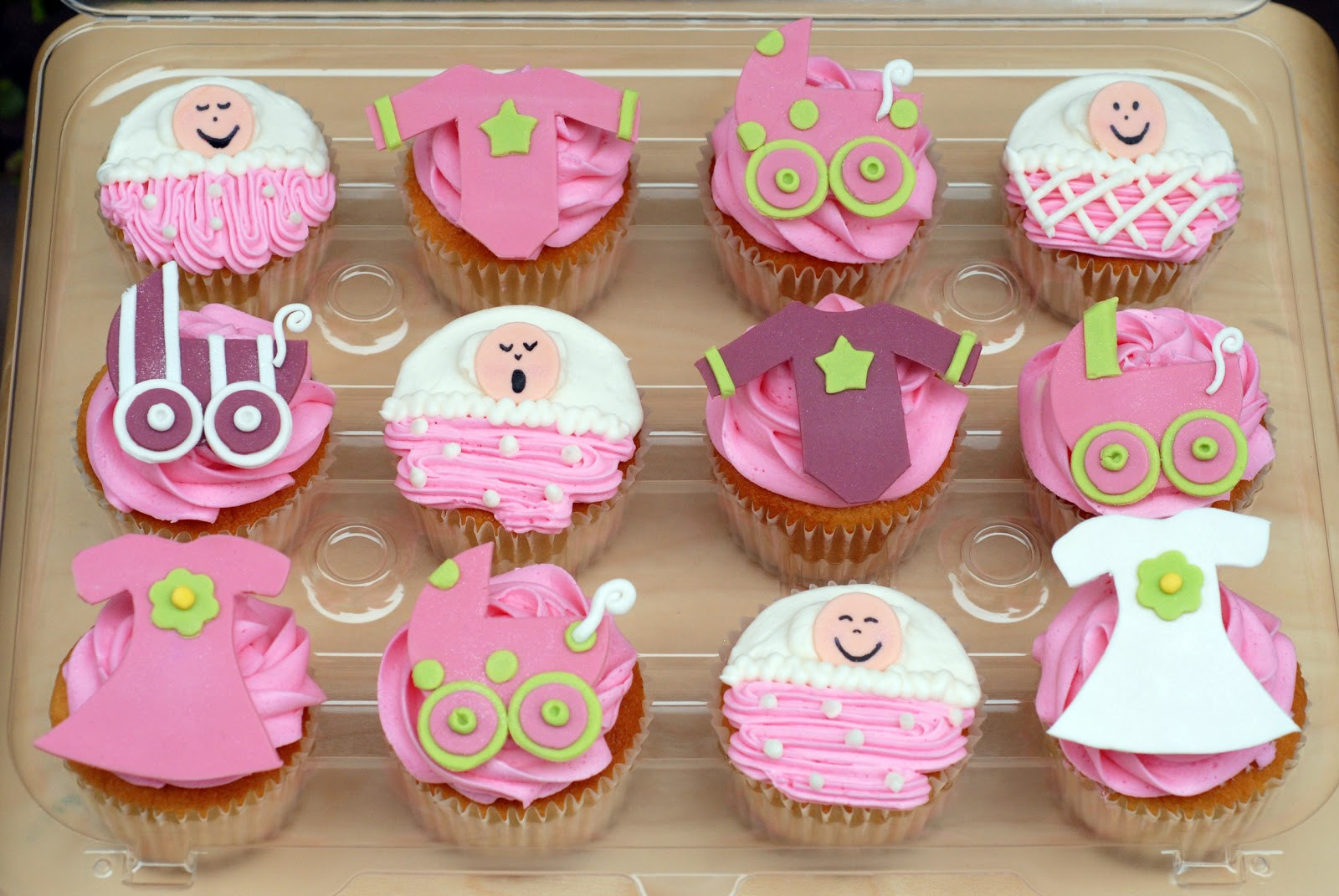 Baby Shower Cupcakes  Night Baking baby shower cupcakes