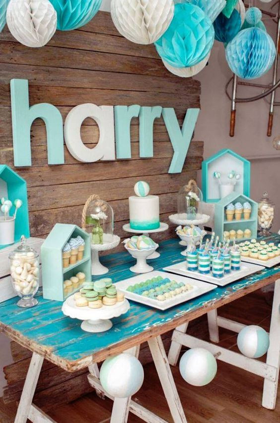 Baby Shower Dessert Table For Boy  35 Boy Baby Shower Decorations That Are Worth Trying