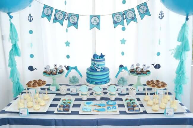 Baby Shower Dessert Table For Boy  Boy Baby Shower Sweets Table Ohio Trm Furniture