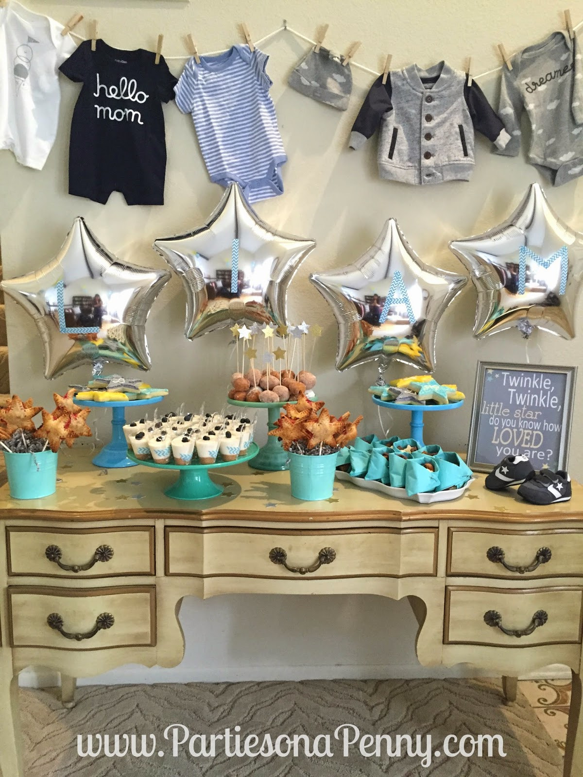 Baby Shower Dessert Table For Boy  Parties A Penny Twinkle Twinkle Little Star Baby