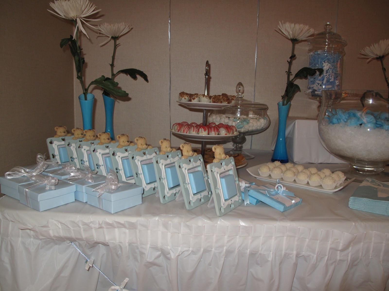 Baby Shower Dessert Table For Boy  Googi Designs Baby boy blue reception Jan 2012