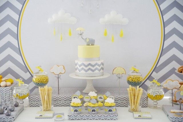 Baby Shower Dessert Table For Boy  Our Favorite Baby Shower Themes Anders Ruff Custom
