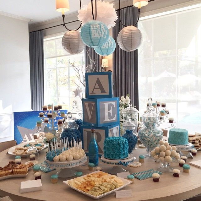 """Baby Shower Dessert Table For Boy  Baby Shower for a boy """"Twinkle Twinkle Little Star"""