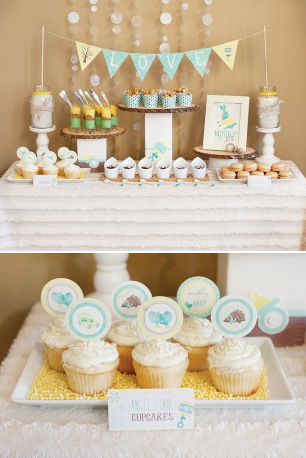 Baby Shower Dessert Table For Boy  Bundle Up Baby Winter Baby Shower Part 2 Mini