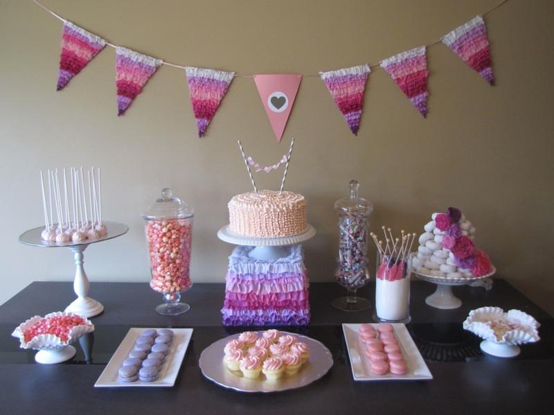 Baby Shower Dessert Table For Boy  Dessert Table Pretty in Pink Baby Shower