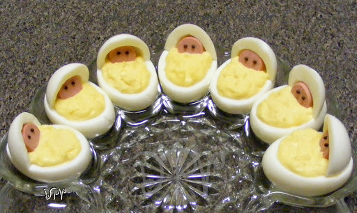 Baby Shower Deviled Eggs  Newborn Babies Deviled Eggs Baby Shower by Diane V Key