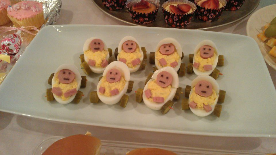 Baby Shower Deviled Eggs  Deviled Eggs as Baby Carriages for Baby Shower Make