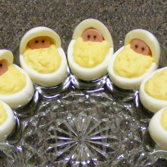 Baby Shower Deviled Eggs  Newborn Babies Deviled Eggs Baby Shower Recipe