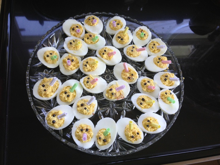 Baby Shower Deviled Eggs  Deviled Egg Baby s with Baby Bottles for Baby Shower