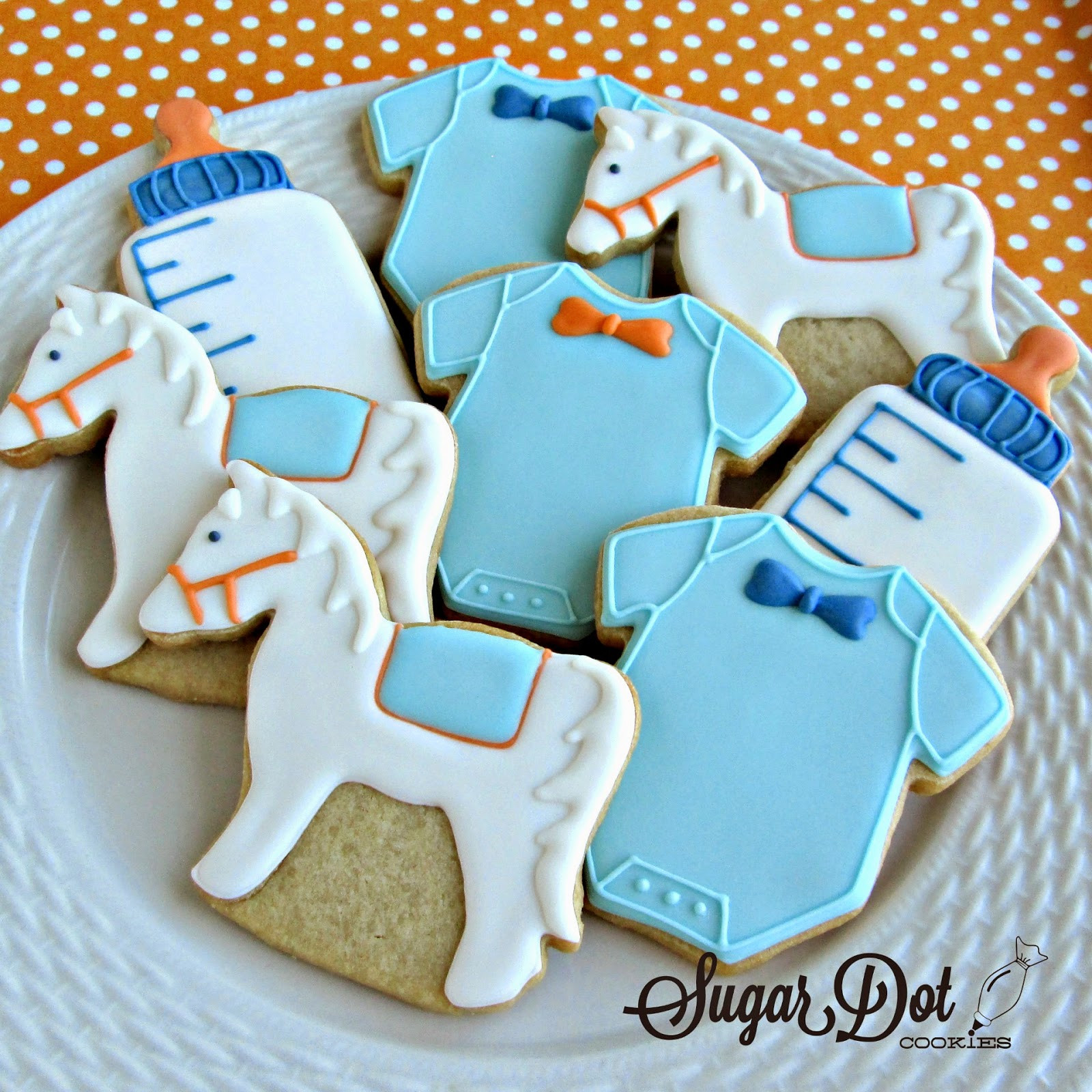 Baby Shower Sugar Cookies  Mini crab cookies for a Lily Pulitzer themed baby shower