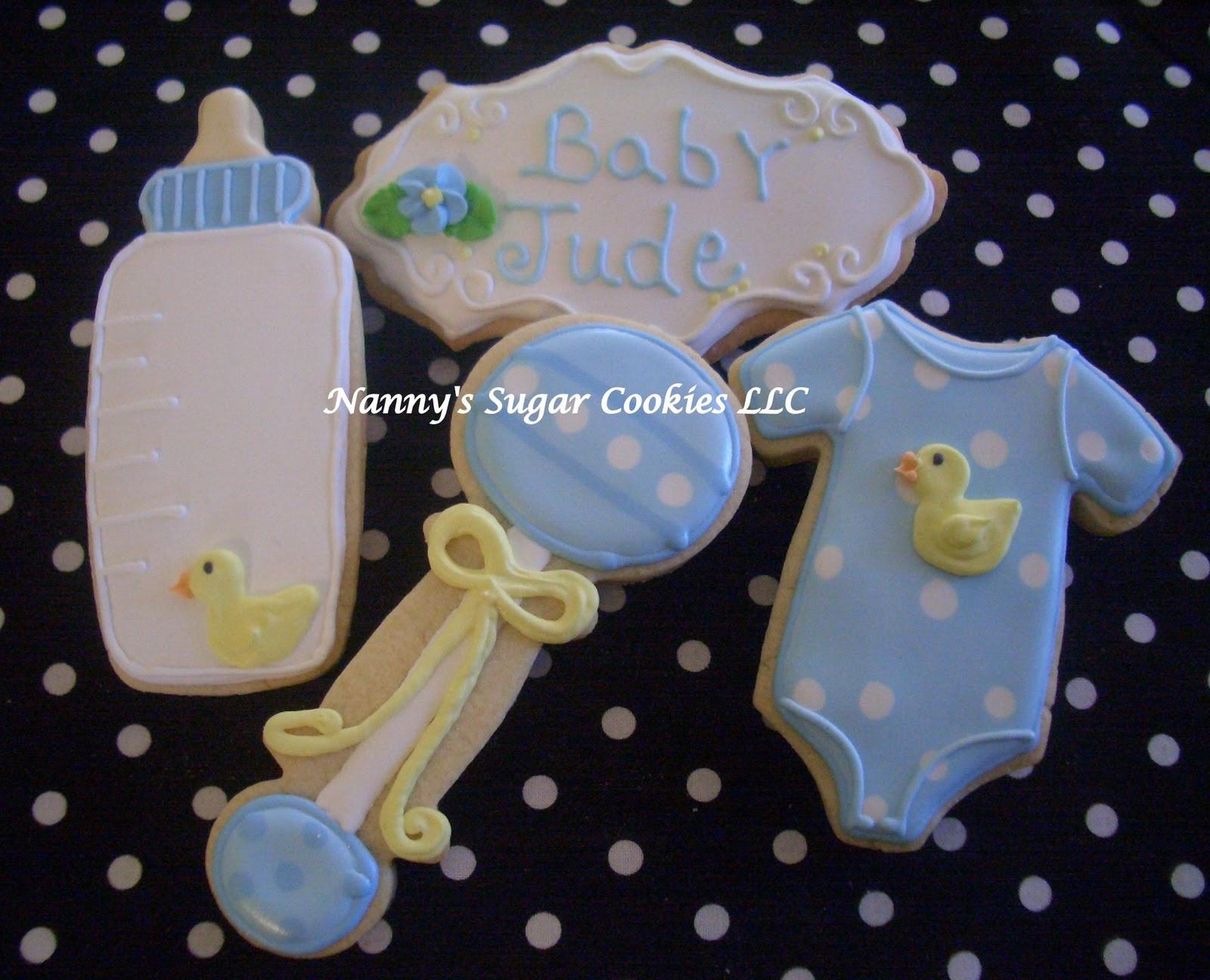 Baby Shower Sugar Cookies  Nanny s Sugar Cookies LLC Baby Shower Cookies