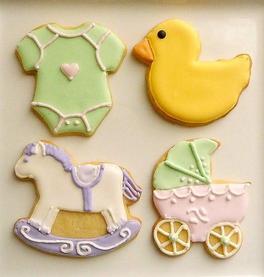 Baby Shower Sugar Cookies  Classic Baby Shower Cookies