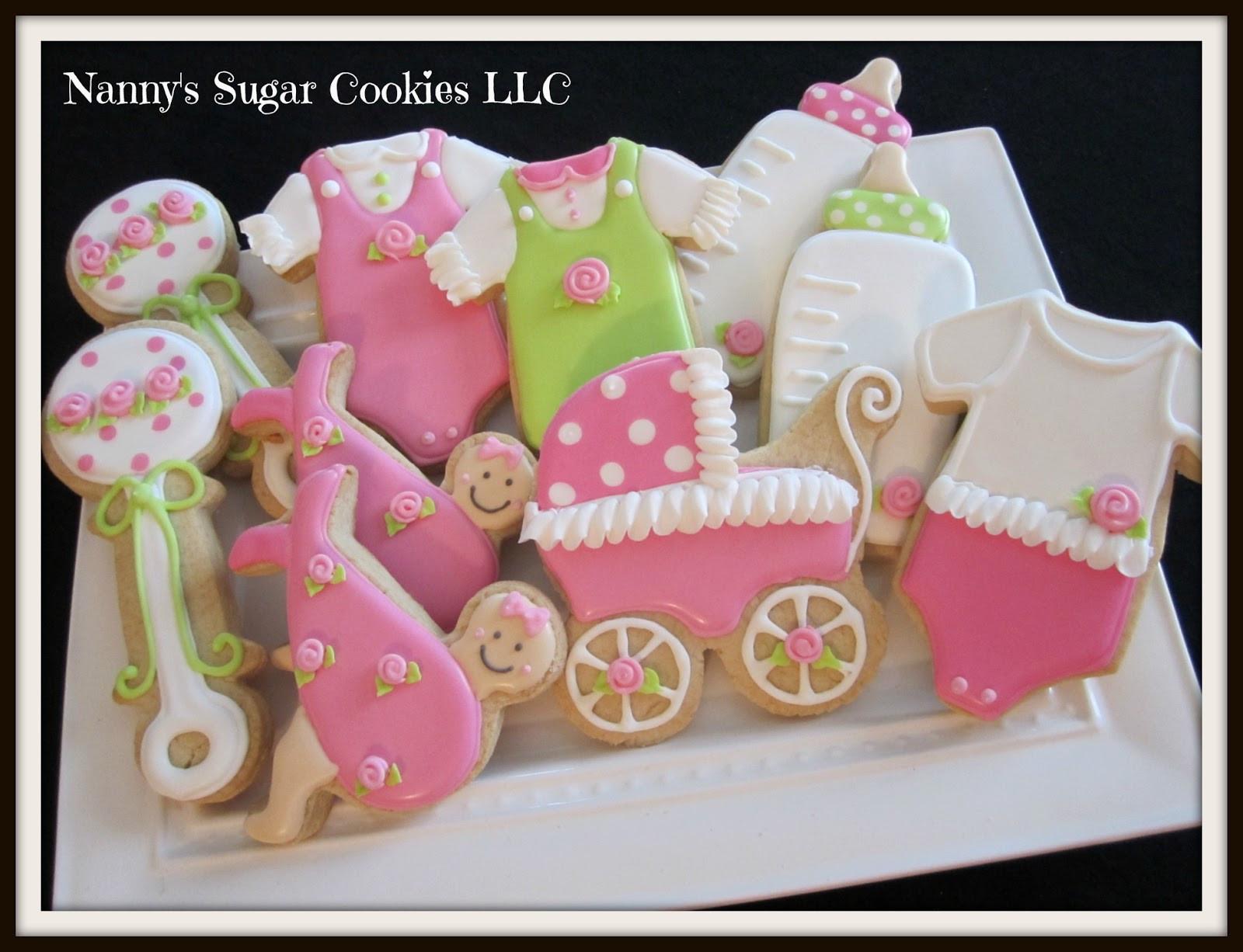 Baby Shower Sugar Cookies  Nanny s Sugar Cookies LLC Baby Shower Cookie Favors
