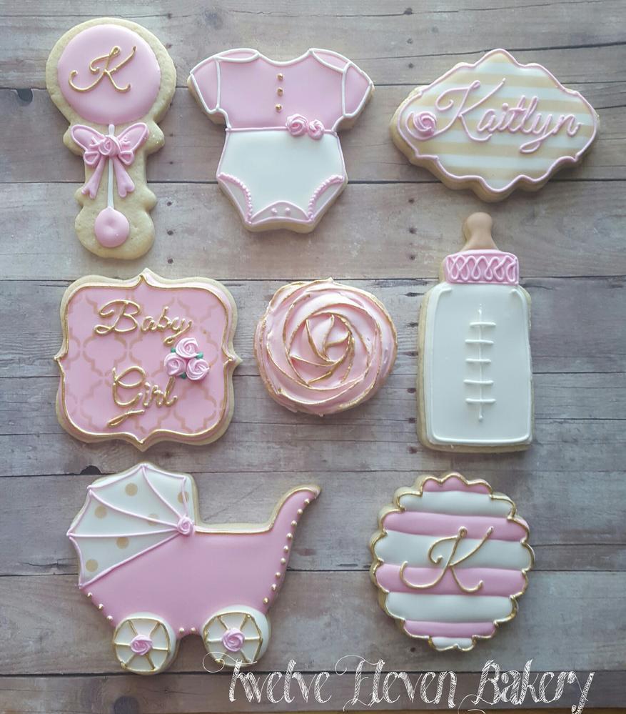 Baby Shower Sugar Cookies  Baby K Shower Cookies