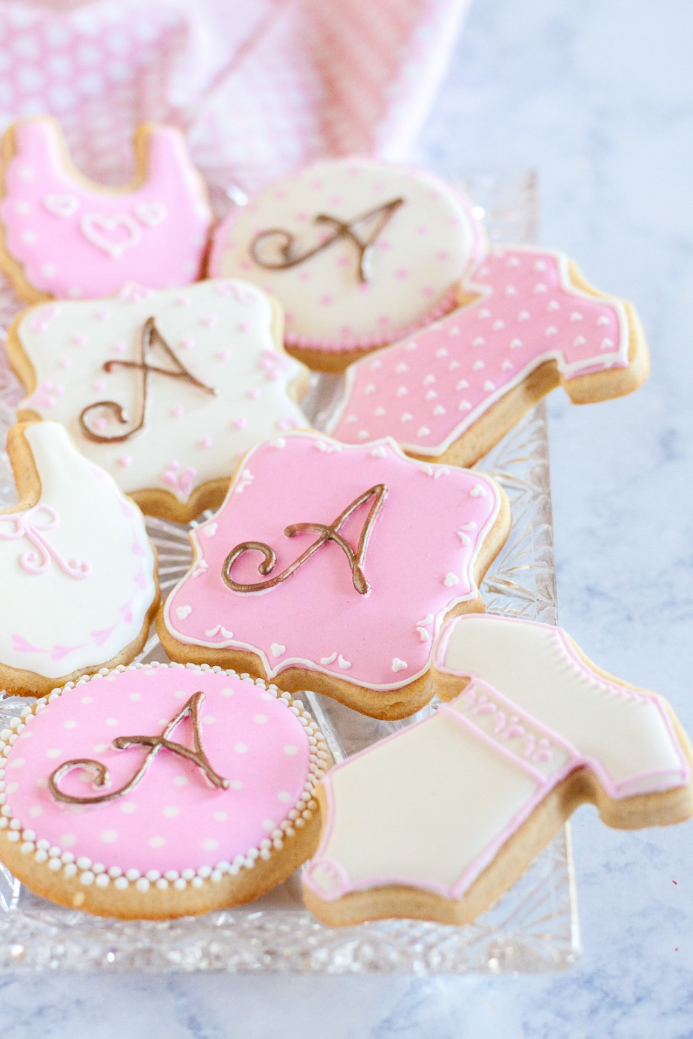 Baby Shower Sugar Cookies  How to Make Monogrammed Sugar Cookies Without A Projector